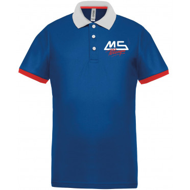 NOUVEAU ! Polo Bleu Royal MS PETANQUE