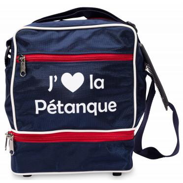 """Sac 1 triplette  """"J'aime La Petanque"""" - 3 couleurs au choix"""