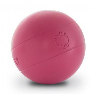 La boule bleue inox 120 striée rose