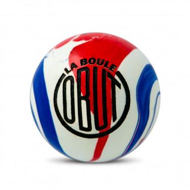 But buis Obut tricolore vintage en buis, bleu, blanc et rouge