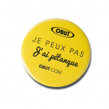 """Badge OBUT """"I love petanque"""""""