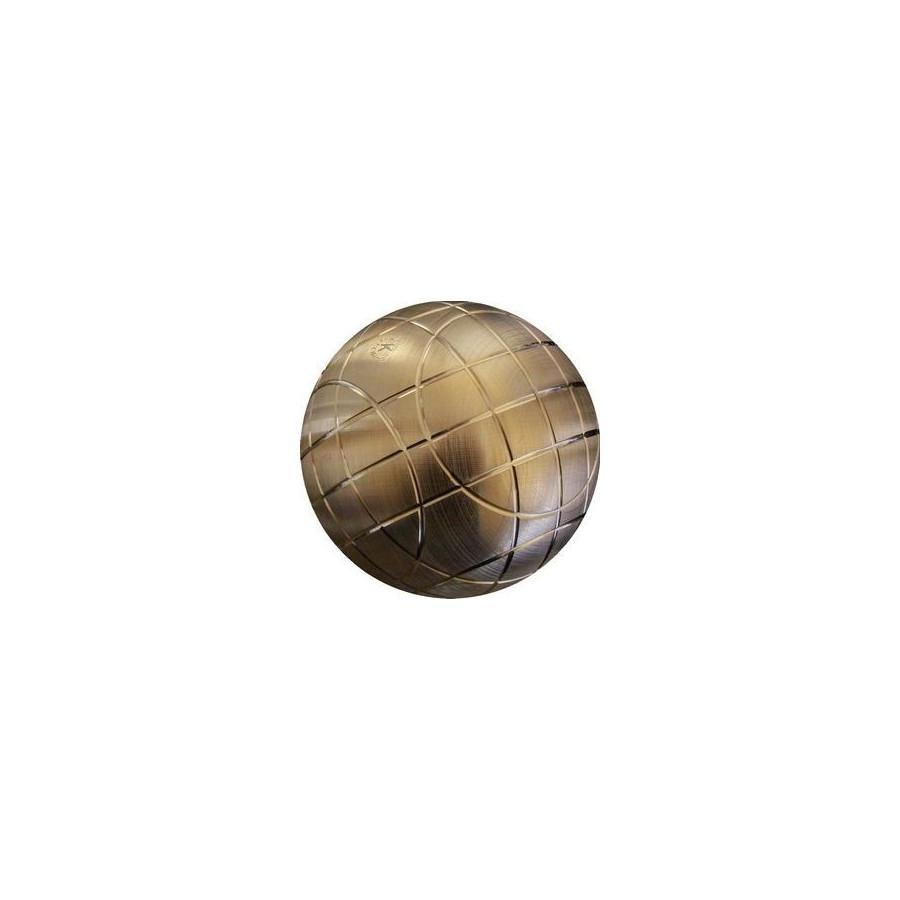 La boule d 39 or lyonnaise tbp point boule pleine bronze jaune for Marque boule de petanque